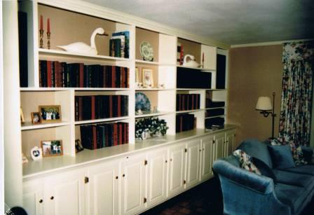 We will work with you to design cabinetry and shelving options to complement your decor and storage needs.